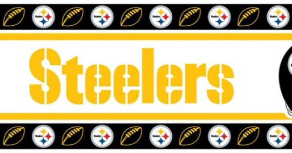 Pittsburgh Steelers Wall Border in Black, Yellow, & White