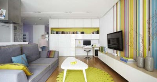 Colorful family apartment interior design in warsaw for Designer apartment krakow