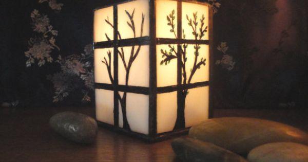 Japanese Shoji Lantern Candle Holder Home Decor Four