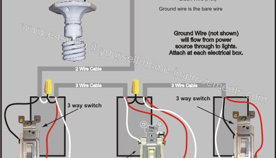 4 way switch wiring diagram electrical pinterest. Black Bedroom Furniture Sets. Home Design Ideas