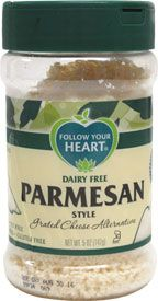 Follow Your Heart Grated Parmesan Style Cheese Shaker Bottle Dairy Free Vegan Grocery List Shaker Bottle Recipes