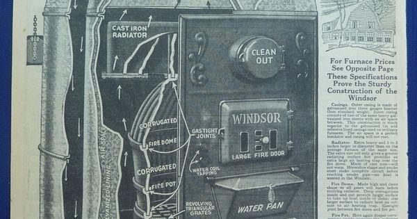 Original Vintage Antique 1924 5 Wards Ads For Coal Heaters
