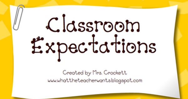 What the Teacher Wants!: Monday Management - Expectations Powerpoint