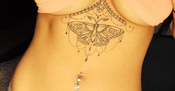 Under boob tattoo ideas