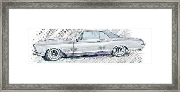 Buick Riviera Sketch Framed Print By Cathy Anderson In 2020 Buick Riviera Framed Prints Car Wall Art