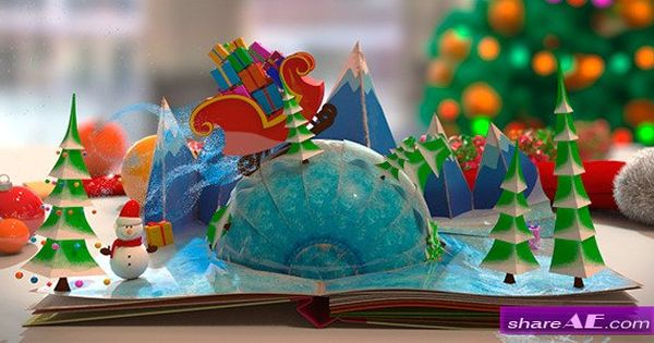 Christmas Pop Up Book After Effects Project Videohive Free Download After Effects Projects Stock Footage Pop Up Book Christmas Pops Boxed Birthday Cards
