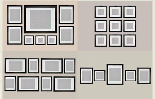gallery wall picture frame organization ideas picture
