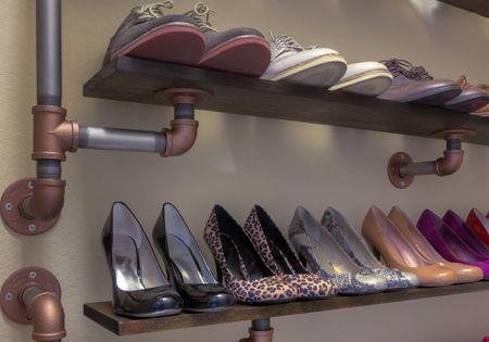 Diy Industrial Galvanized Pipe Shoe Rack Ideas Diy