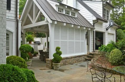 The Virtual Builder Changing Grade With A Step Down At Garage With Images House With Porch Carport Designs House Exterior