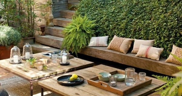 garten terrasse tisch selber bauen jardin pinterest gardens garten and outdoor living. Black Bedroom Furniture Sets. Home Design Ideas