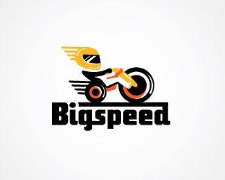 Big Speed Bike Racing Logo Design A Super Fun Super Fast Logo Inspired By Everyone S Favorite Ultimate Low Rider Br Br T Fast Logo Logo Design Logos