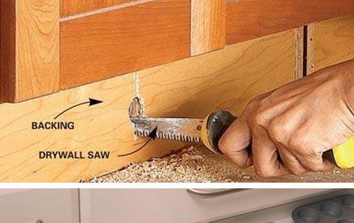 IKEA Style Toe Kick Drawer Storage - Genius Storage Ideas for Small