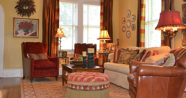 Wonderful Colors In This Living Room Cheerful Amp Rich