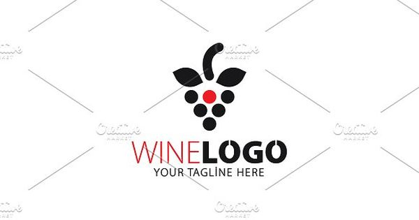 Wine Logo for cafe and restaurant