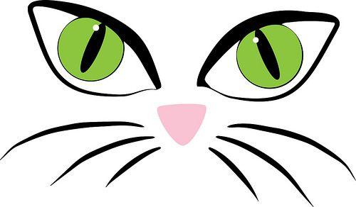Cat Face Features Svg File Cat Face Face Template Face Stencils
