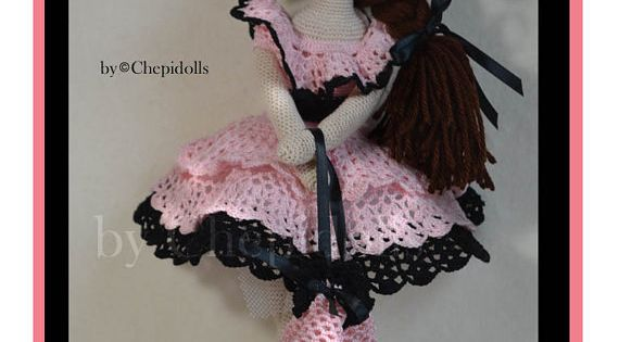 Lacy crochet doll pattern by chepidolls on Etsy - purchased pattern