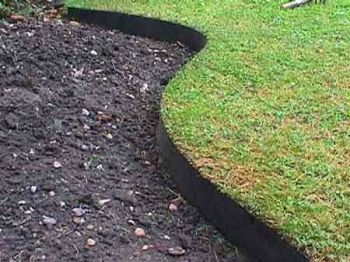 50m Easy Lawn Edging In Black H14cm By Smartedge 144 99 Grass Edging Lawn Edging Garden Edging