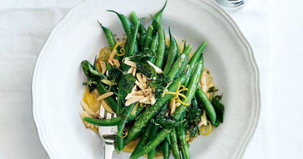 ... lemon | Food | Pinterest | Green Beans With Almonds, Green Beans and