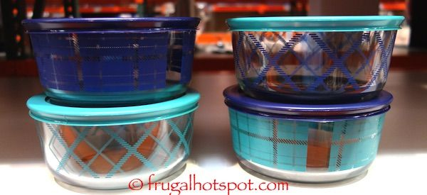 Costco Pyrex Simply Store Decorated Glass Storage Container 8 Pc