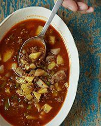 Hungarian Beef And Potato Soup Recipe Recipe Beef Soup Recipes Best Ground Beef Recipes Beef And Potatoes