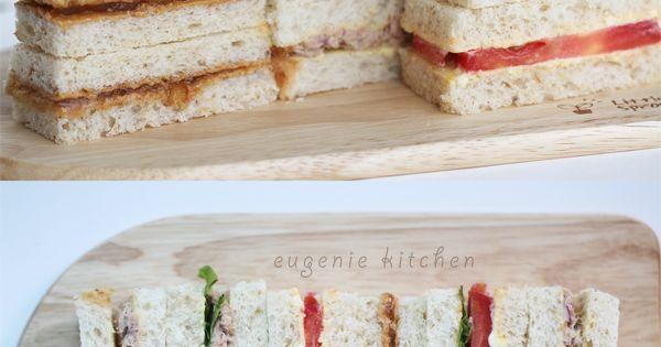 3 tea sandwich recipes tuna tomato peanut butter for Club sandwich fillings for high tea