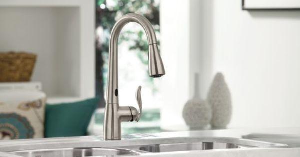 Moen Arbor Motion Sense In Brushed Nickel For Kitchen Best Kitchen Faucets Kitchen Faucet Touchless Kitchen Faucet