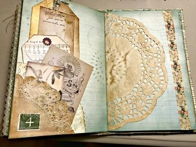 Every Month I Do Something New With One Of The Digital Downloads From Ephemera S Vintage Garden And F Handmade Journals Art Journal Inspiration Vintage Journal
