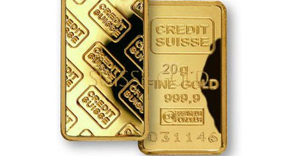 Credit Suisse 20 Gram Gold Bar Gold Bullion Bars Gold Stock Gold Bullion
