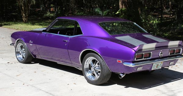 Three Way Chevrolet >> 1968 Chevy Camaro in metallic purple. Be still my heart. If I could only buy one car ever. Oh ...