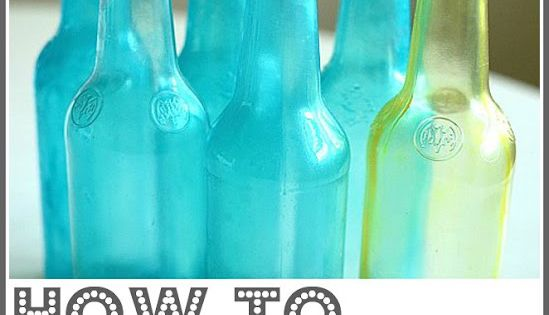 Simple DIY: Tinting Bottles & Jars Here is one of my favorite,