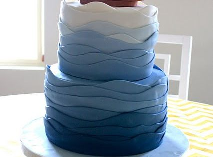 lovely boat / sea themed cake