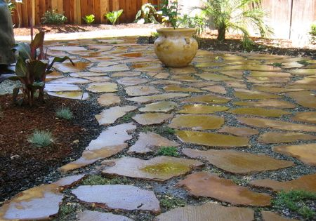Urbanite (recycled concrete): patio, raised beds, edging