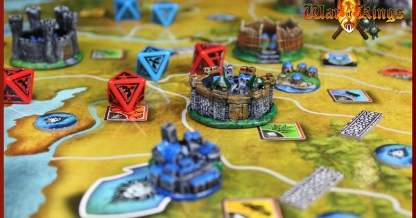War Of Kings Medieval Strategy Board Game Strategy Board Games Board Games Kings Game