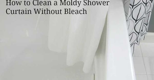How to clean a moldy shower curtain without bleach cleaning for How to clean bathroom floor with bleach
