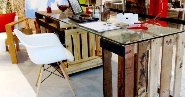 Pallets pallets pinterest oficinas como reciclar y for Caja de cataluna oficinas