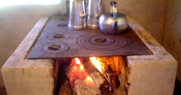 Old Portuguese Village Wood Burning Stove With Metal
