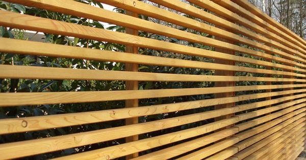 Sichtschutz Lärche horizontal  Kleiner Garten Ideen  Pinterest