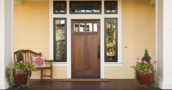 7 Home Upgrades Making Aging In Place Easier Wooden Front Doors Yellow Houses Exterior Doors