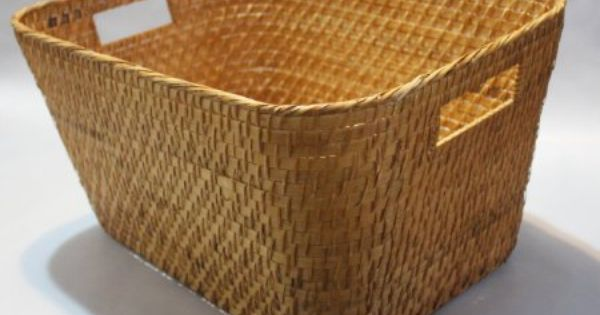 Amazon Com Rattan Storage Basket Or Bin With Rounded Corners Rt450244 20 X 16 X 10 High 27 Storage Baskets Rattan Basket