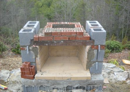 How To Build Outdoor Fireplace Building An Outdoor Fireplace Part 2 Diy Outdoor Projects