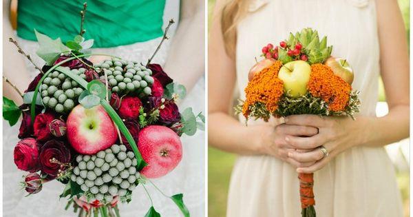 bouquet mariage pomme en automne  Fleurs  Pinterest  Mariage ...