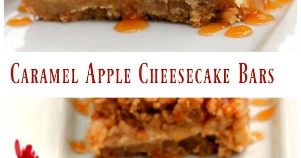 Caramel Apple Cheesecake Bars | Recipe | Caramel Apple Cheesecake Bars ...