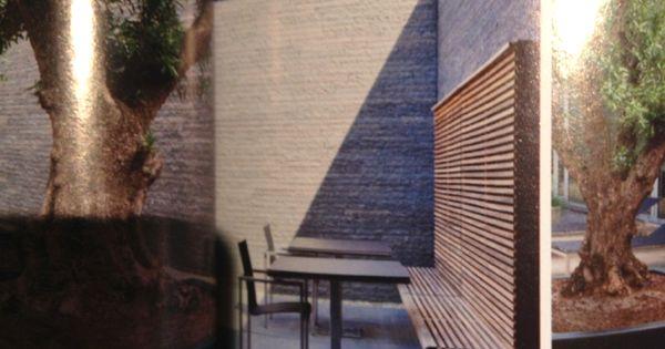 Idee voor schutting en bank in 1 - Sitting in the garden : Pinterest
