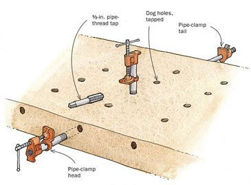 Dog Holes Parf Dogs Bench Dogs With Images Workbench Dog Bench
