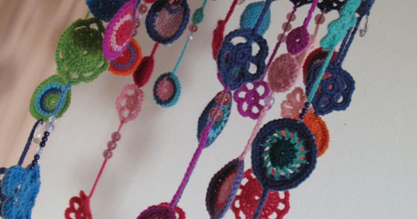 Crochet motif mobile