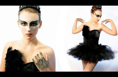 DIY Tutorial: DIY Women Halloween Costumes / DIY Black Swan Halloween Costume