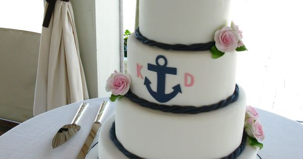 wedding cake border ideas nautical wedding cake anchor wedding cake wedding 22044