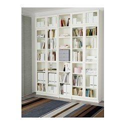 Billy Oxberg Bookcase White Ca Ikea Home Home Library White Bookcase