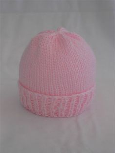 Easy Newborn Hat Knitting Pattern Knit With Straight Needles Or Double Pointed Baby Hat Knitting Pattern Baby Hats Knitting Baby Hat Knitting Patterns Free