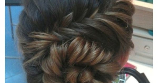 A beautiful fishtail bun. Hairstyle